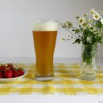 strawberries and wheat beer